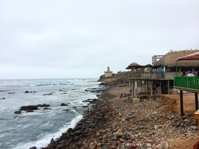 Popotla fishing village Rosarito Baja Mexico